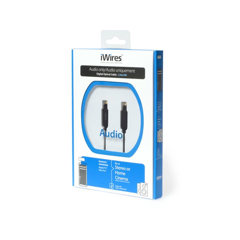 Cable óptico para audio de 2 metros iWires