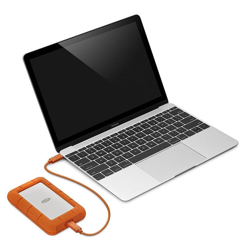 Disco Duro LaCie 2 TB Rugged USB-C y USB3
