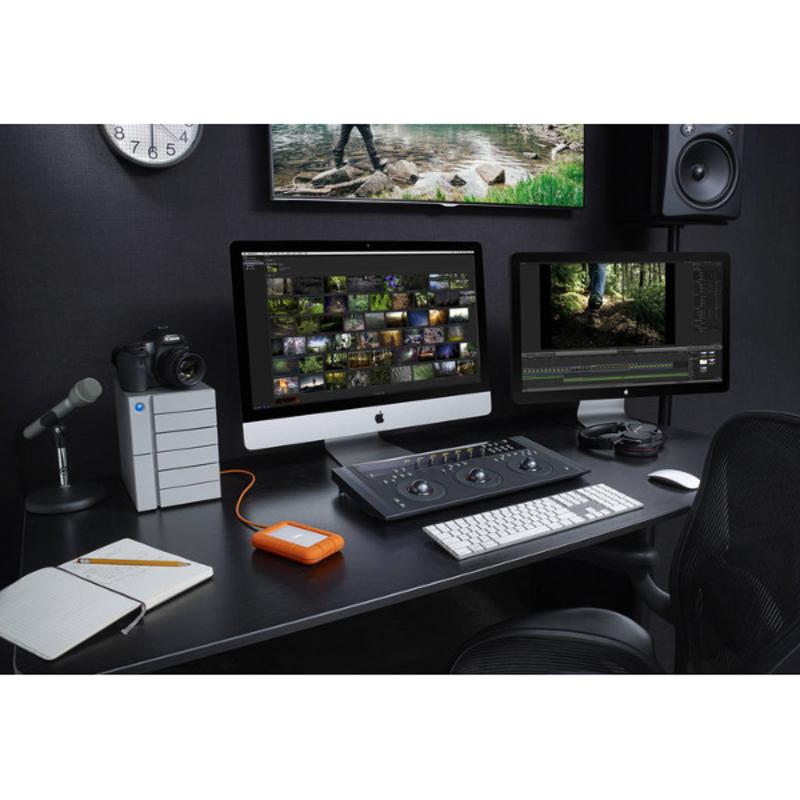 Disco Duro LaCie 4 TB, Rugged Thunderbolt, USB-C y USB3