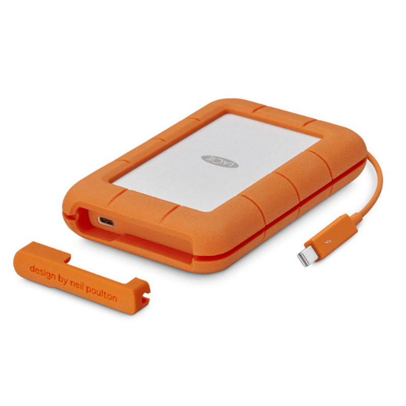 Disco Duro LaCie 2 TB, Rugged Thunderbolt, USB-C y USB3 v2