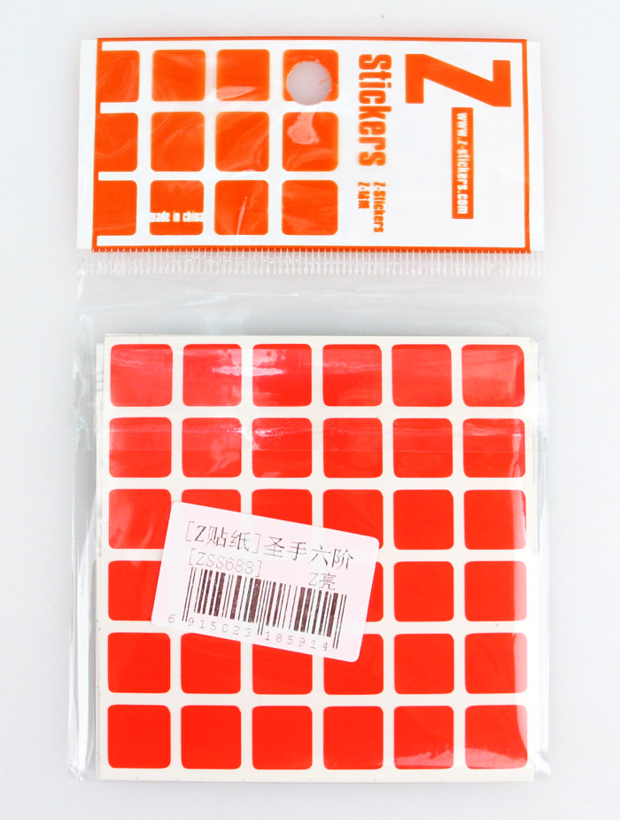 6x6x6 Stickers HB Z-stickers
