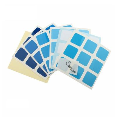 Stickers 3x3x3 Gradiente Azul