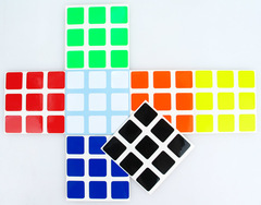 Stickers 3x3x3 estandar half-bright Z-stickers