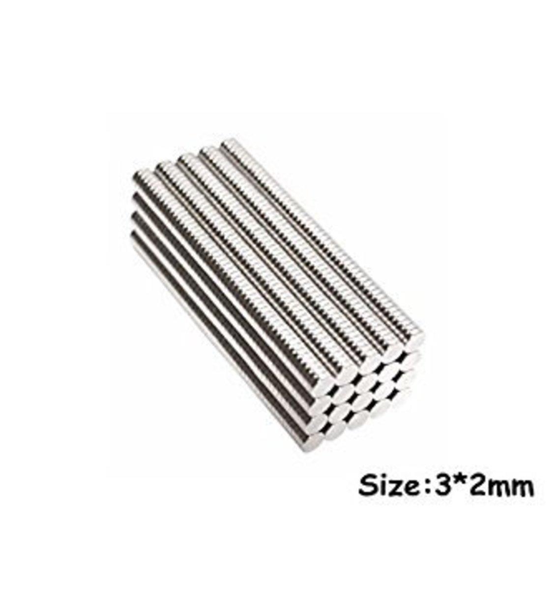 50 unidades imanes 3x2 mm