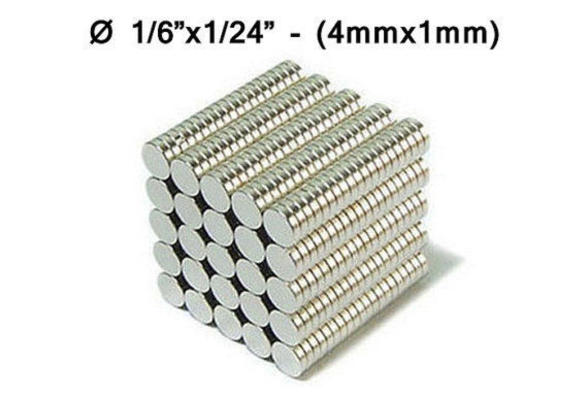 50 unidades imanes 4x1 mm