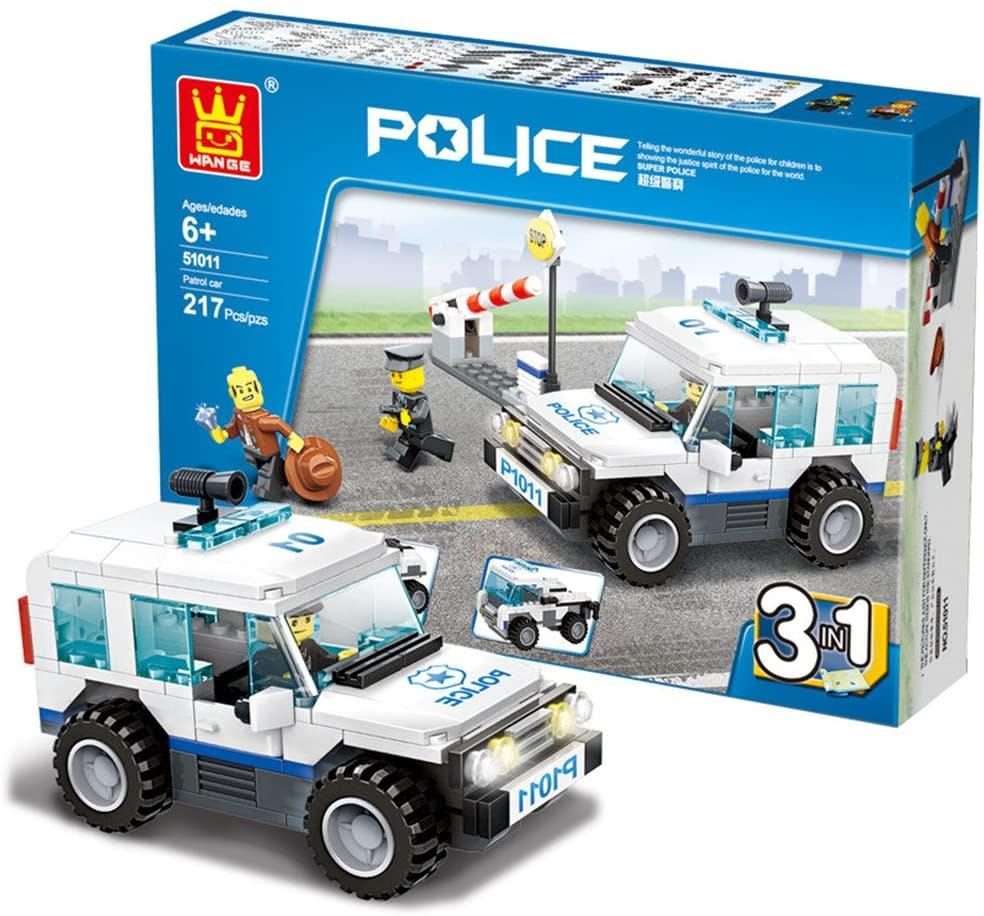 Patrulla Policial 3 en 1 Tipo Lego
