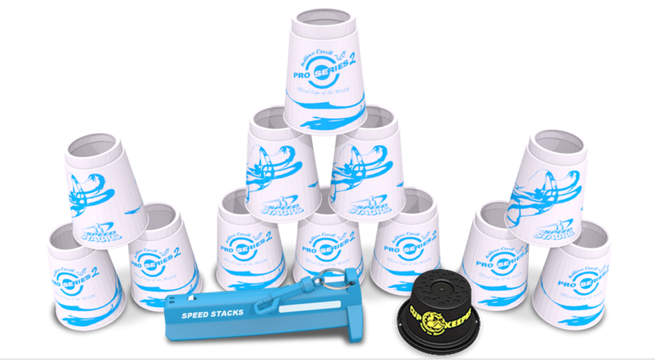 Pro Series SpeedStacks White Cyan