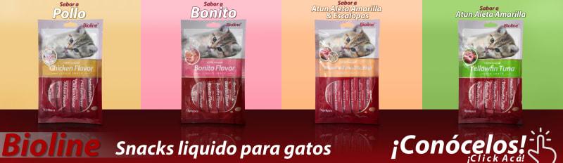 ¡Nuevos Snacks Bioline Liquidos como el Churu!