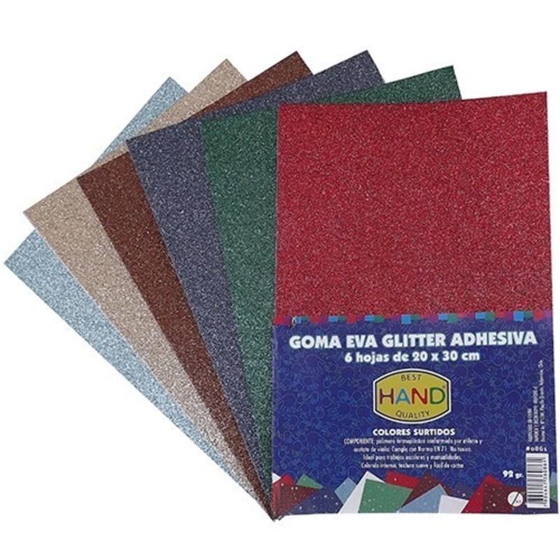8ab1f222d46 Goma Eva Glitter Adhesiva 6 colores 5 sets. Previous  Next