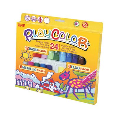 Témpera sólida 24 colores gift pack Playcolor