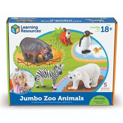 Animales del Zoo jumbo 5pz