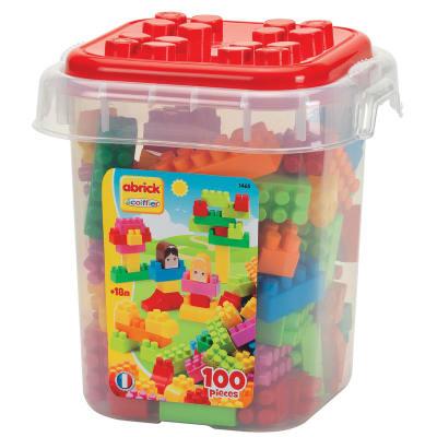 Abrick - Caja con 100 bloques tipo lego