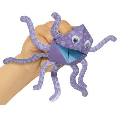 Juego arma marionetas de papel animales ses