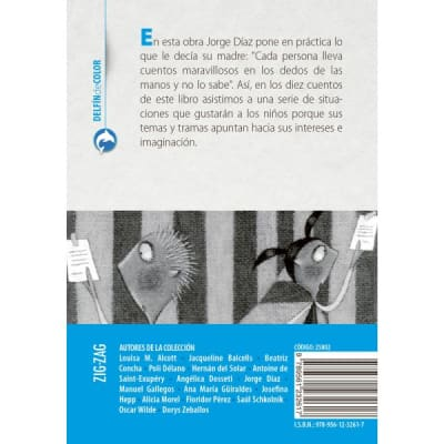 Delfín de color (azul) - Contar con los dedos