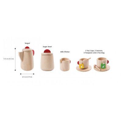 Juego de té madera natural Plantoys, 13pz