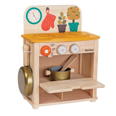 Cocina de madera con accesorios Plantoys
