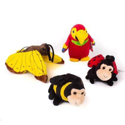 Set ave e insectos de plush