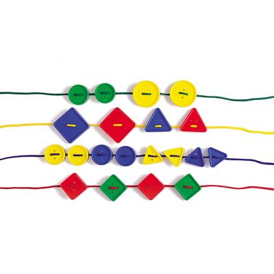 Botones Geométricos 48pz en contenedor