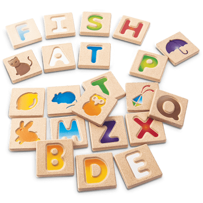Alfabeto letras mayúsculas doble faz
