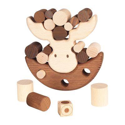 Juego de balancín alce madera, Goki Nature
