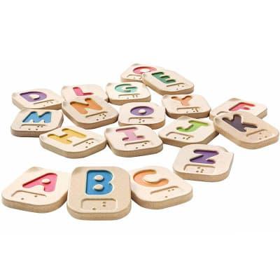 Alfabeto braille A-Z de madera