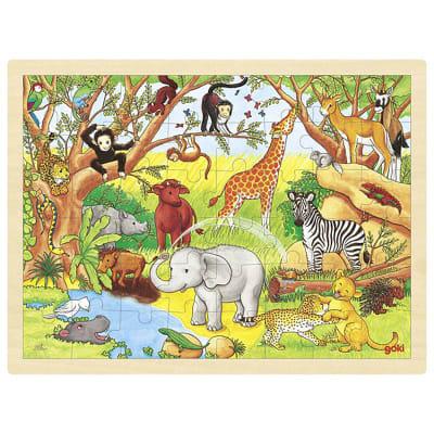 Puzzle 48pz Animales salvajes