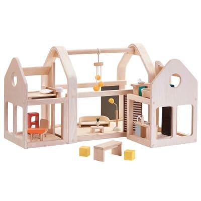Casa de muñecas modular de madera