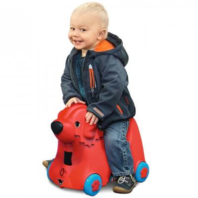 Maleta con ruedas Trolley Big Bobby rojo