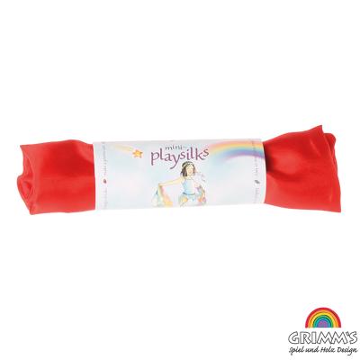 Pañuelo seda de juego Waldorf color rojo