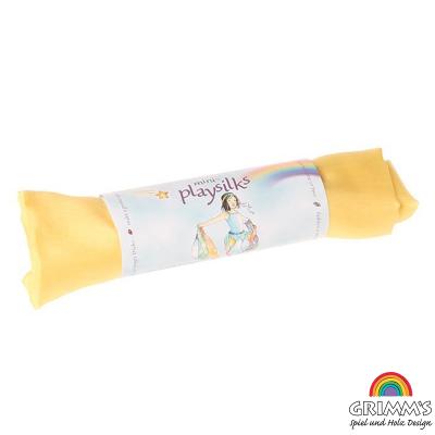 Pañuelo seda de juego Waldorf color amarillo