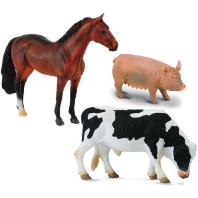 Animales de la granja set de 3 und