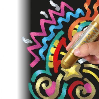 Témpera sólida metalizada 6 colores
