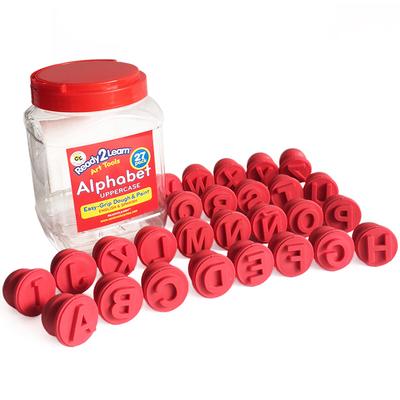 Balde 27 sellos alfabeto letras mayúsculas