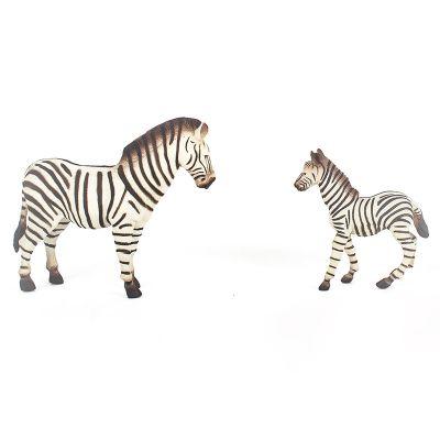 Cebras mamá y bebé