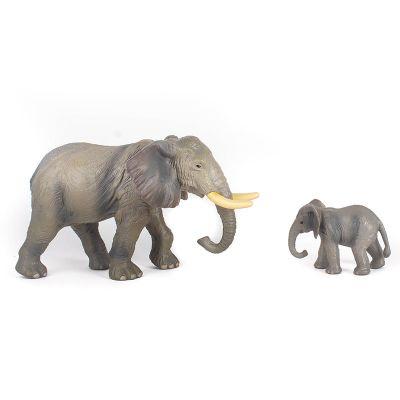 Elefantes mamá y bebé