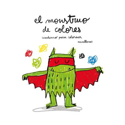 El monstruo de colores, cuaderno para colorear