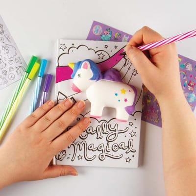 Personaliza tu diario unicornio
