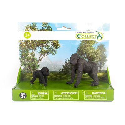 Gorilas mamá y bebé