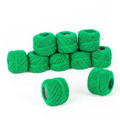 Hilo para bordar color verde 10grs 10 ovillos