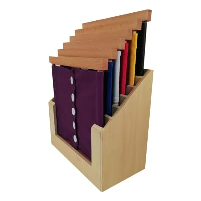 6 Marcos de vestir con base contenedora Montessori