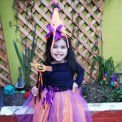 Set brujita Halloween 3pz