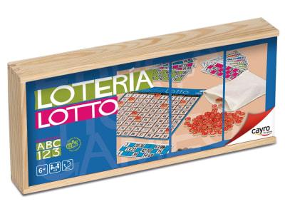 Loto clásico en caja de madera, 48 cartones