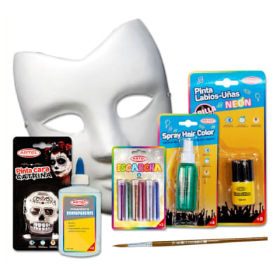 Pack Halloween, pinta tu máscara, 9pz