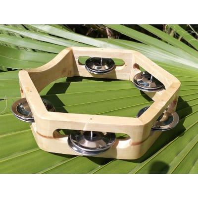 Pandero hexagonal 15 cm sin cuero