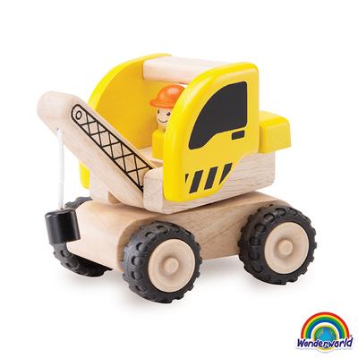 Mini grúa madera