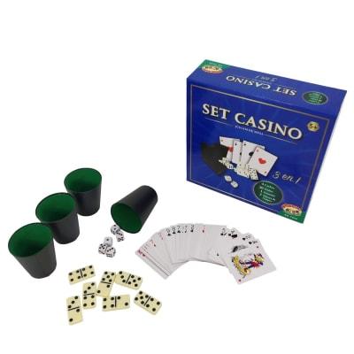 Set casino, juegos de mesa 3 en 1