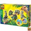 Juego moldea y pinta 3 dinosaurios Ses