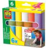 6 Mega tizas multicolores para exteriores