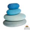 Piedras en madera Grimm's gama azul, 4 pz