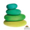 Piedras en madera Grimm's gama verde, 4 pz